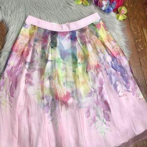 1b2d814bdb748 Ted Baker Skirts - NWT Ted Baker Glenis Hanging Gardens Silk Skirt